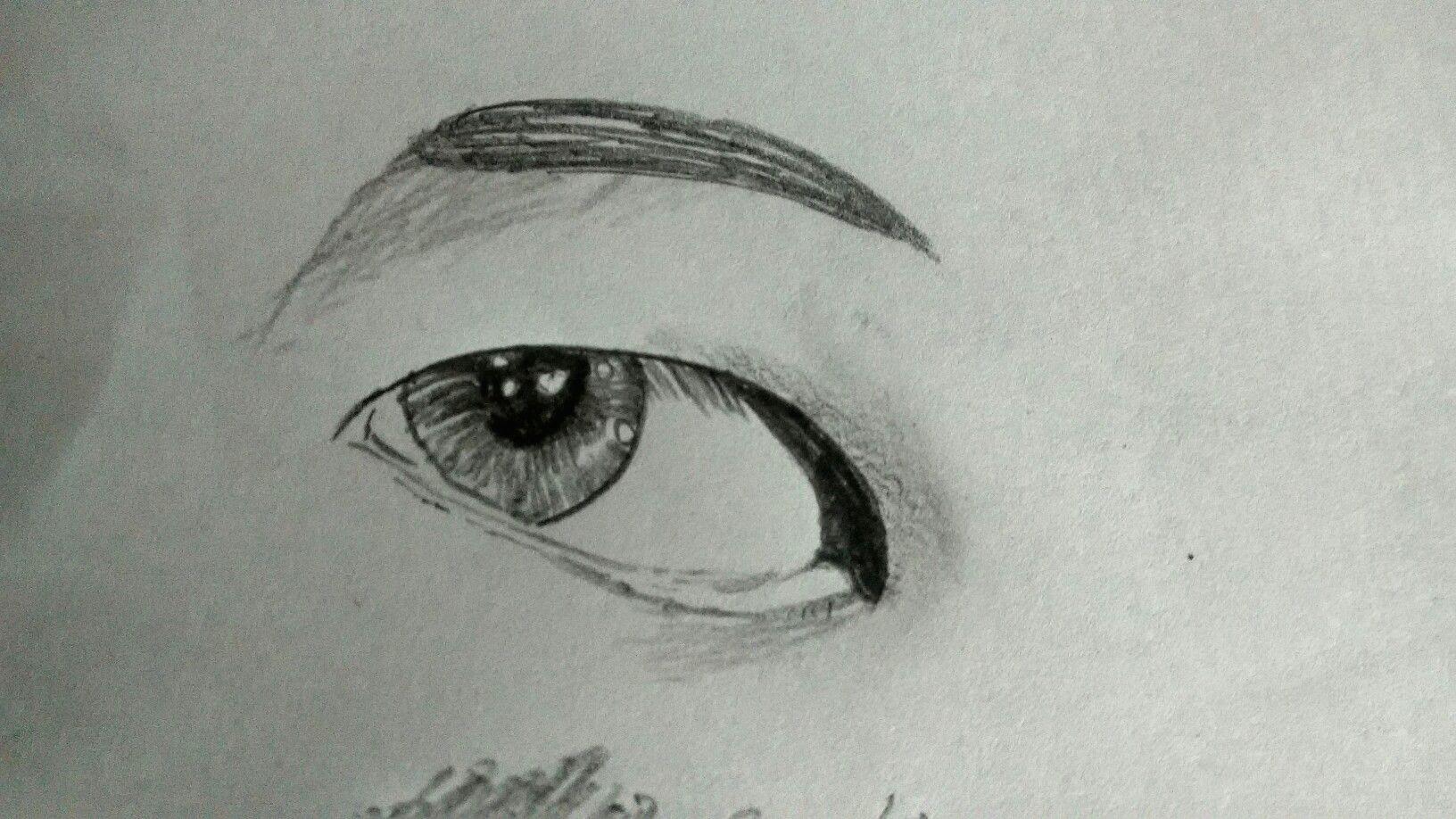 Bts Drawings Easy Easy Sketch Of An Eye Taehyung S Eye Bts Fanart In 2020
