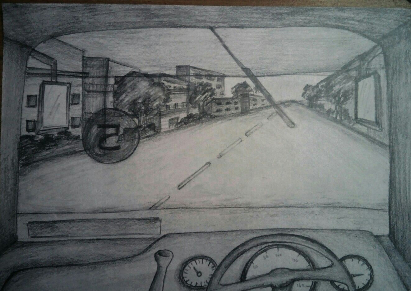 Bus Drawing Easy Nata Bus Front Window View Perspective Art Easy Drawings