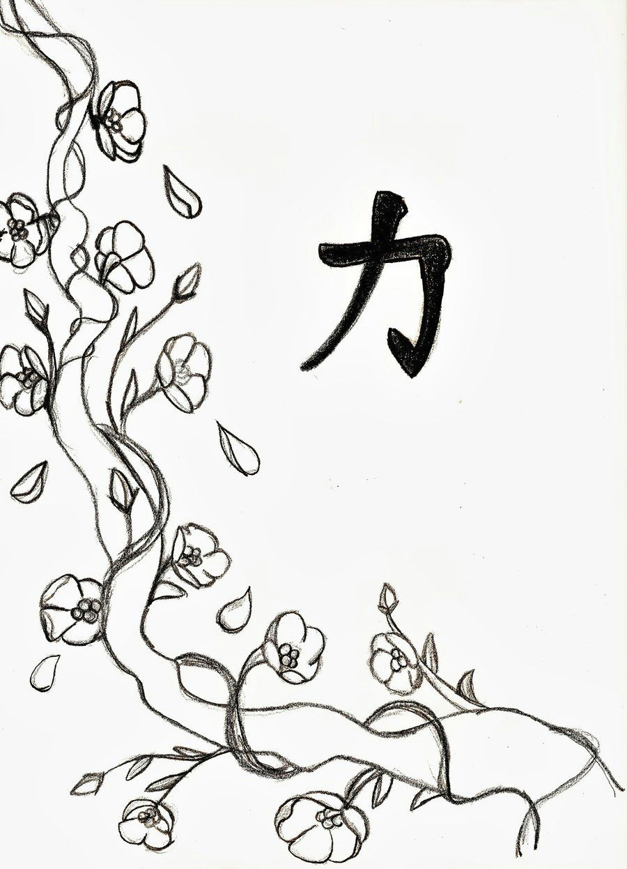 Cherry Drawing Easy Cherry Blossom Line Drawing Cherry Blossom Drawing Tree