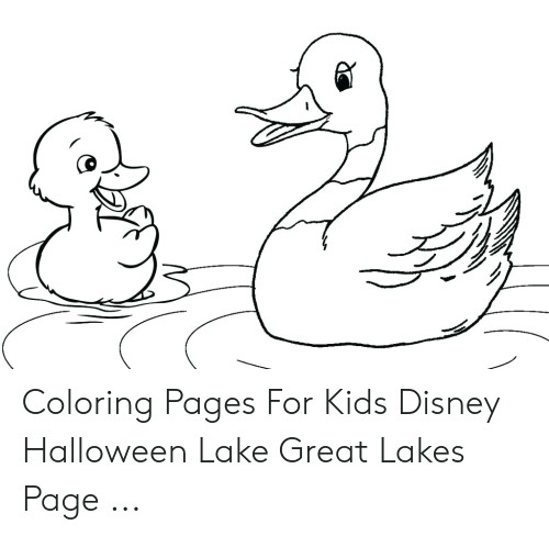 coloring pages for kids disney halloween lake great lakes page 50413274 png