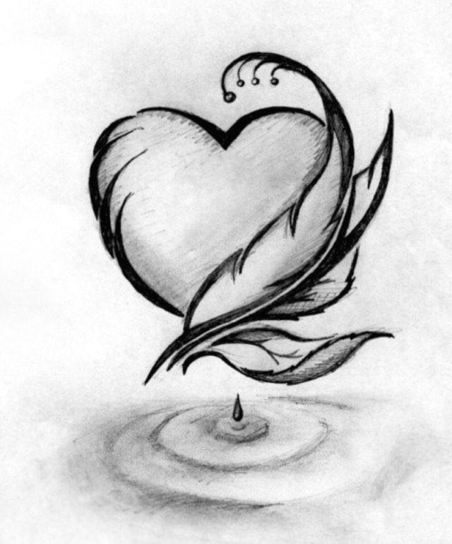Cool Easy Heart Drawings Muthia Otesi A Oa O Drawings Cool Pencil Drawings Pencil