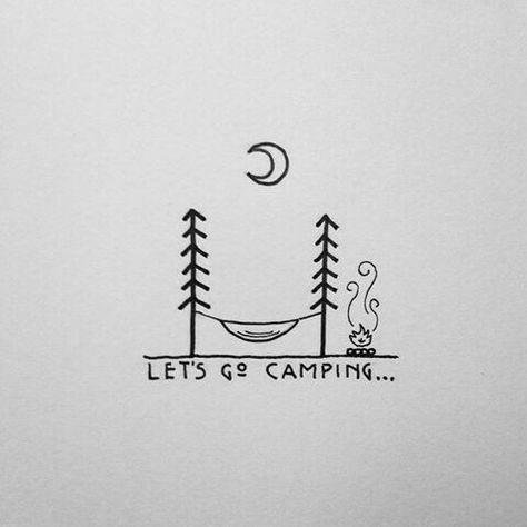 Cool Easy Small Drawings Let S Go Camping Doodle for Art Journals or Planners Easy