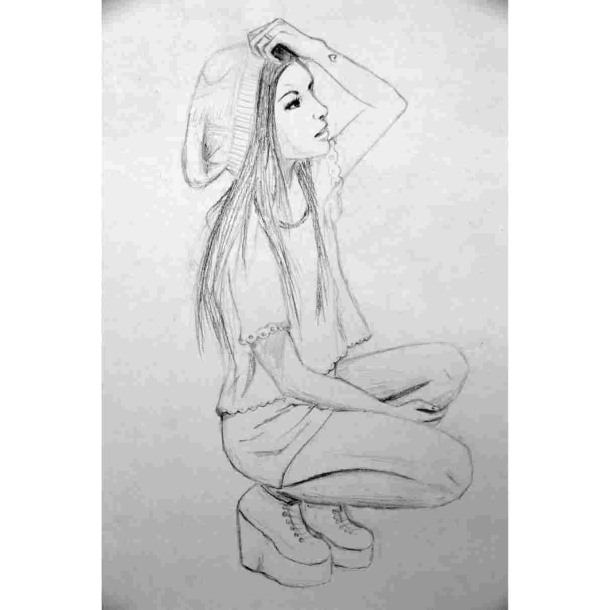 cute drawings for teens od zuzia na w pinterest art i artworkrhpinterestcom how to draw cartoon people chibi girl fundraw youtuberhyoutubecom how cute drawings for teens jpg