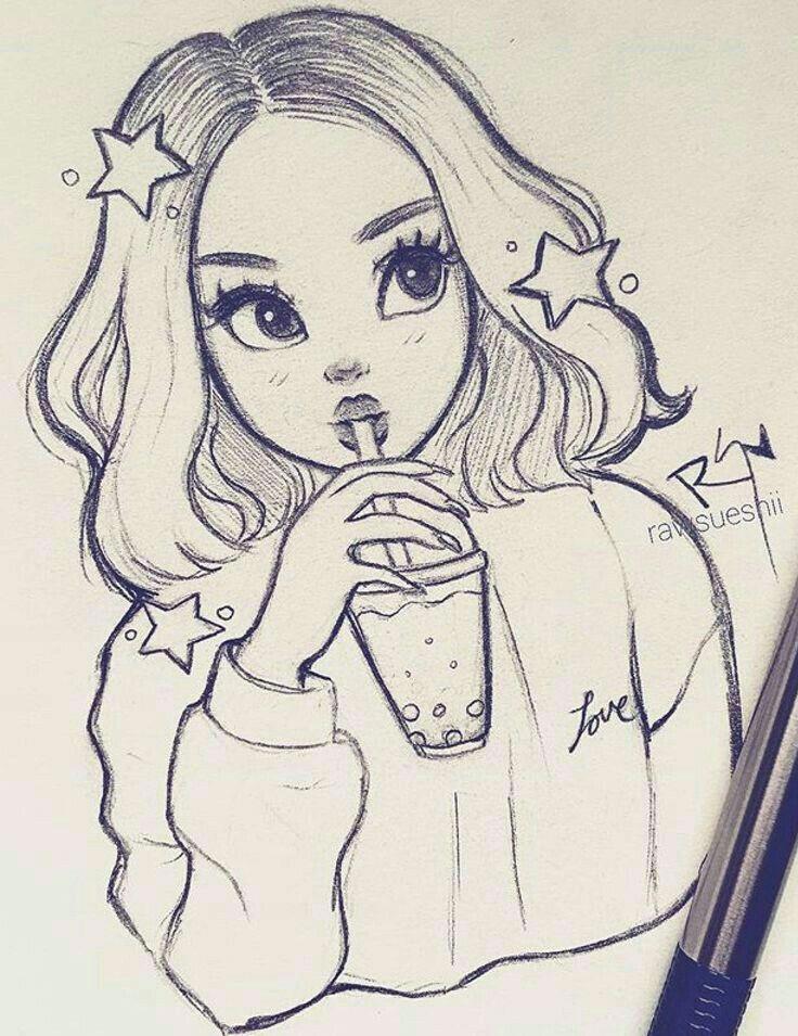Cute Girl Drawings Step by Step Cute Girl A I Cute Drawings Pencil Art Drawings Sketches