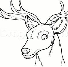 27a171150db9ef6b10eb9c24aae876f0 deer drawing drawing board jpg