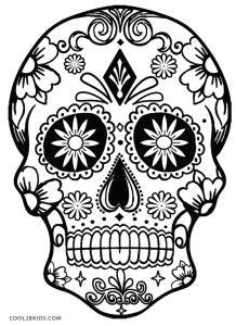 6bbec187db3a42953584fc8bd2a80c91 simple sugar skull and day of the dead adult coloring pages 218 300 jpeg
