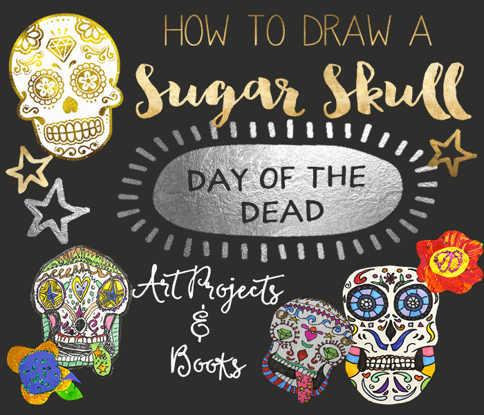 how to draw a sugar skull feature image png