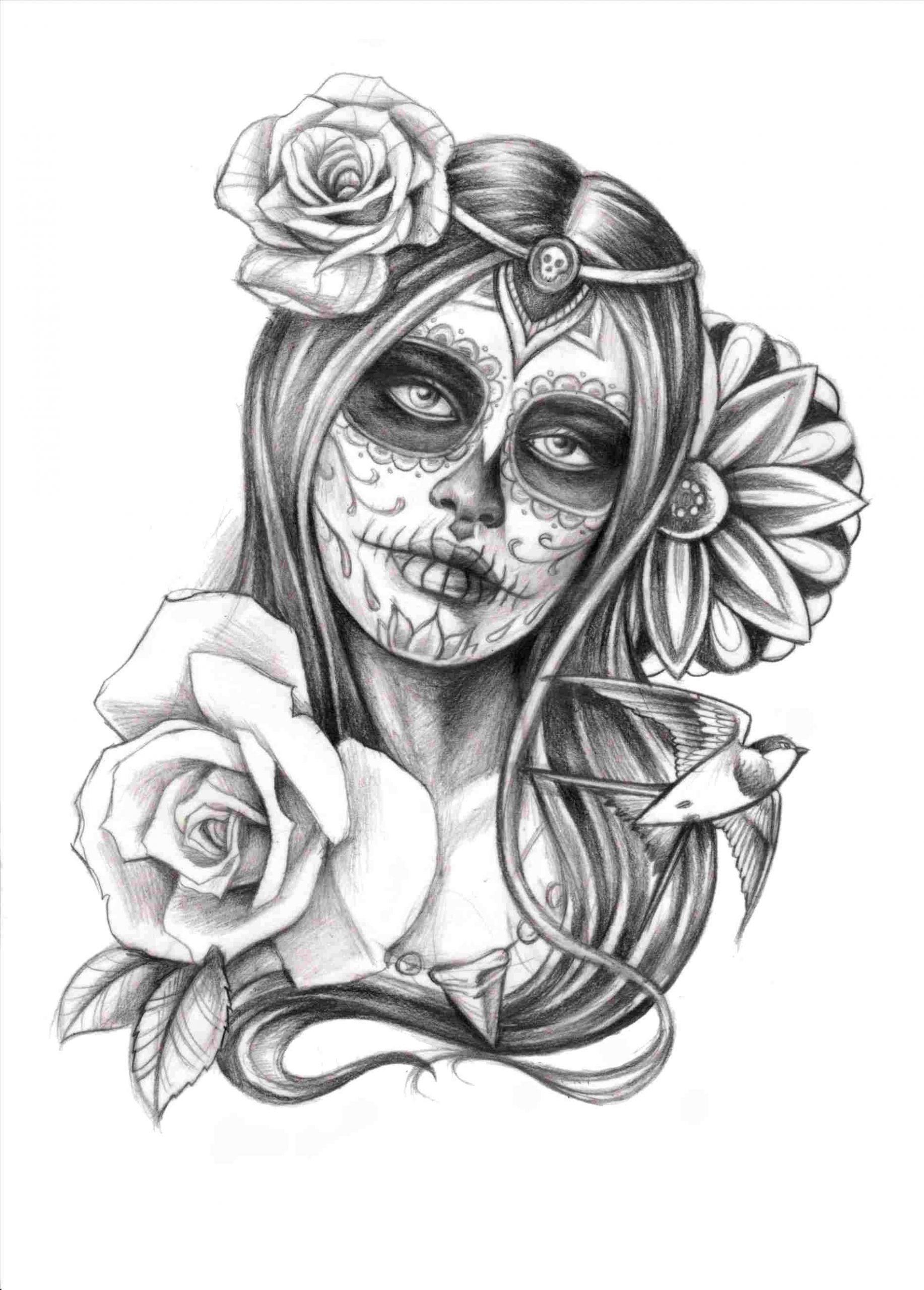 tattoos of day od dead girl drawing the sugar skull tattoo pinterest tattoos rhpinterestcom black white illustration stock vector royalty free rhshutterstockcom black day od dead jpg