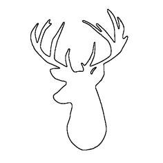 cd65962c8ddcbc4f70a1f3a17532c1c4 reindeer silhouette deer head silhouette printable jpg
