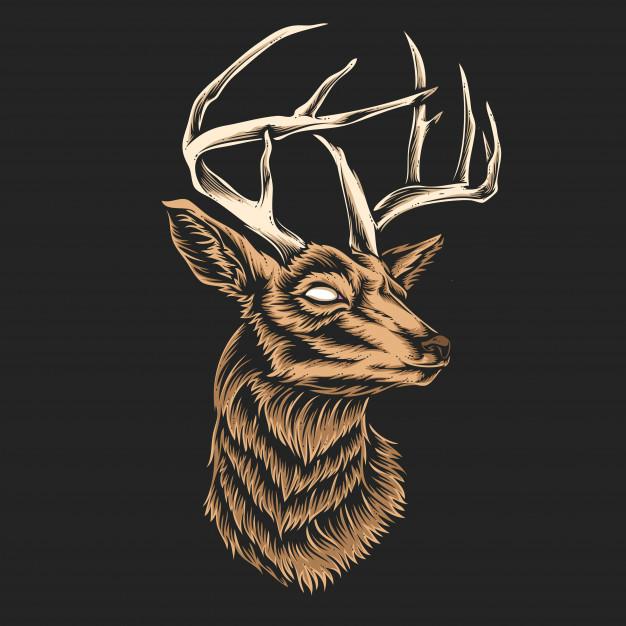 deer head vector 43623 382 jpg