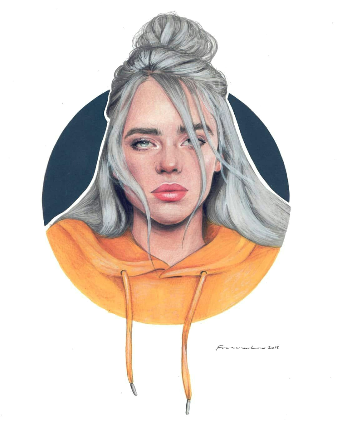 Easy Drawings Of Billie Eilish Pin On Billie