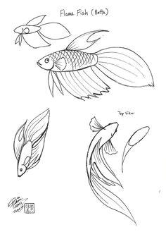 be073486356a9d5761a03081d78e8487 doodles fish fish doodle jpg