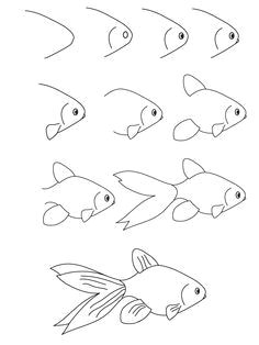 def74d667f41c63c299893570140b191 simple doodles drawings fish drawings jpg