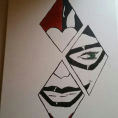0e4c44fe57de6e2e8e0cd85ca11d2ce7 harley quinn painting harley quinn drawings jpg