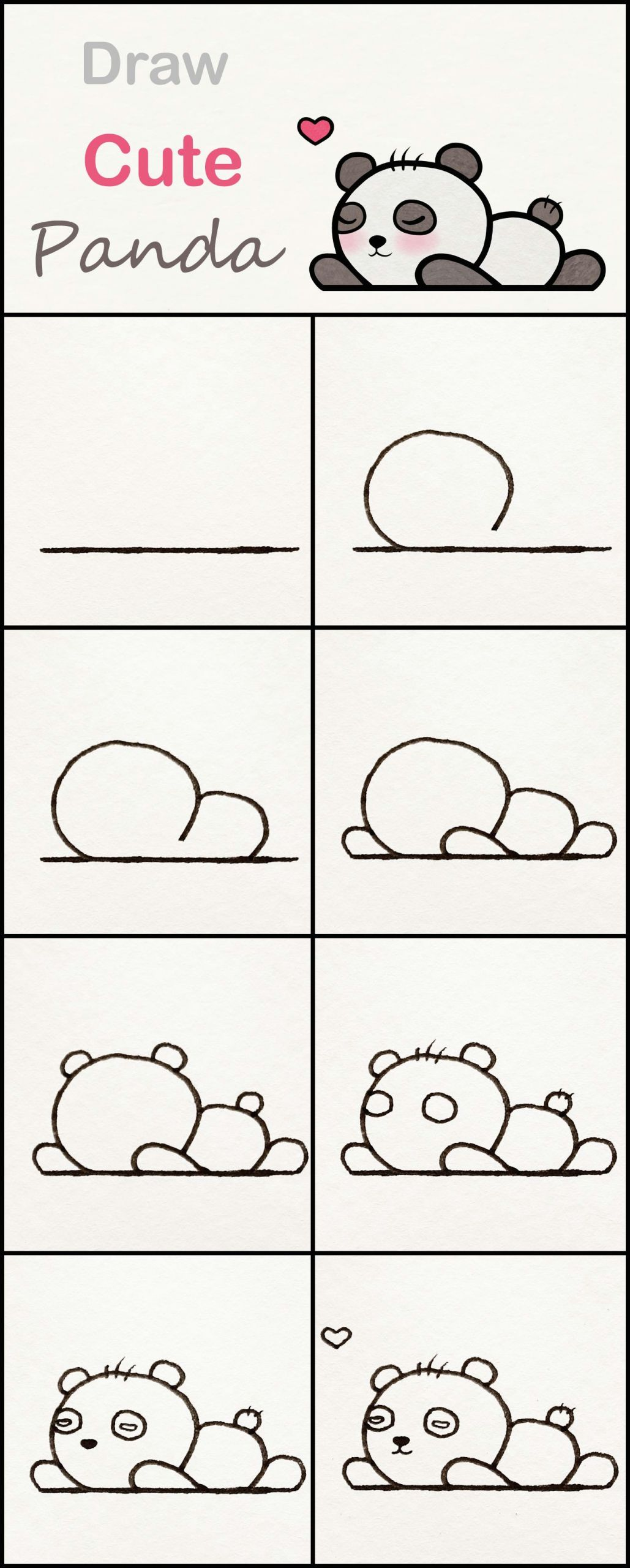 Easy How to Draw Cute Animals Learn How to Draw A Cute Baby Panda Step by Step A Very