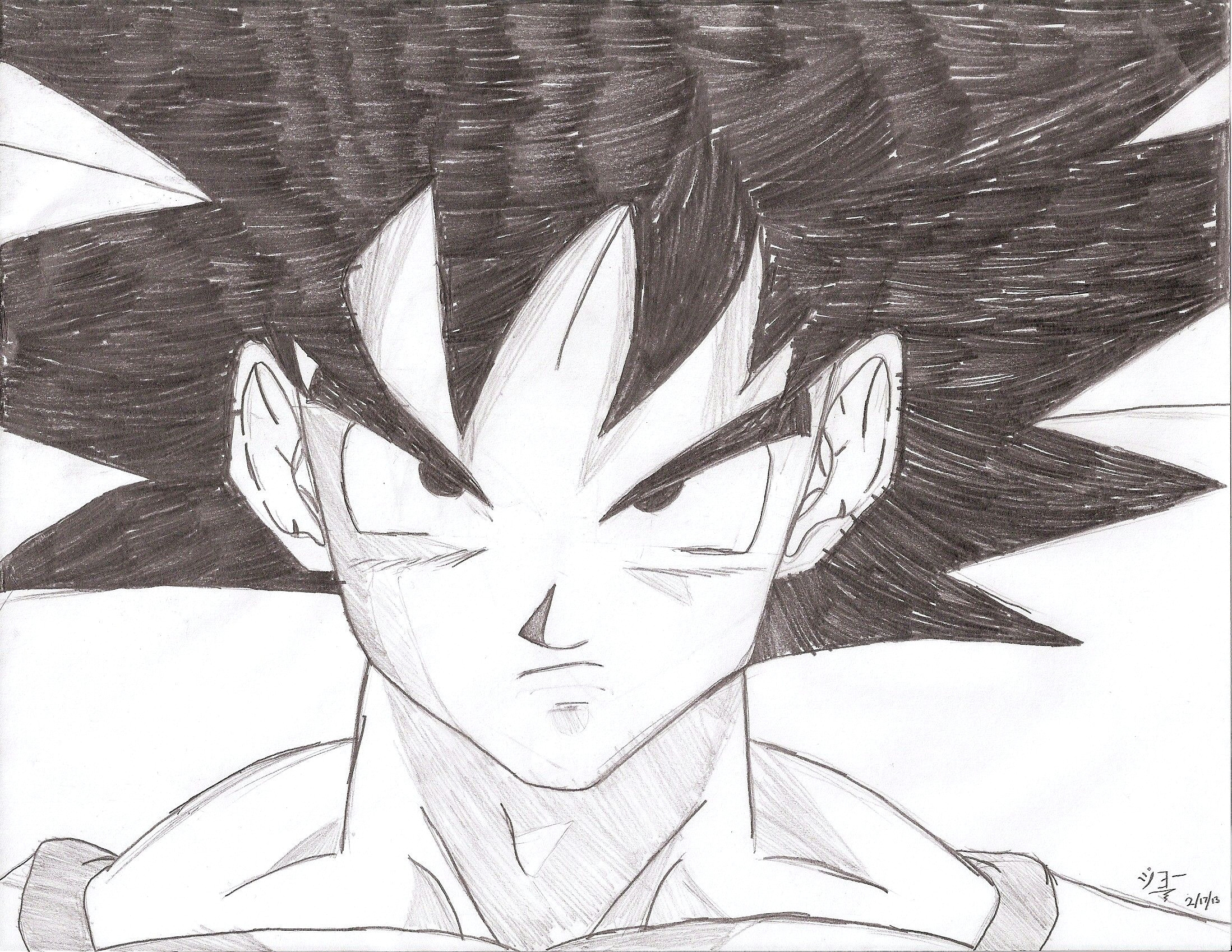 Easy How to Draw Goku A Picture Of Goku I Drew From Dragon Ball Drawings Goku