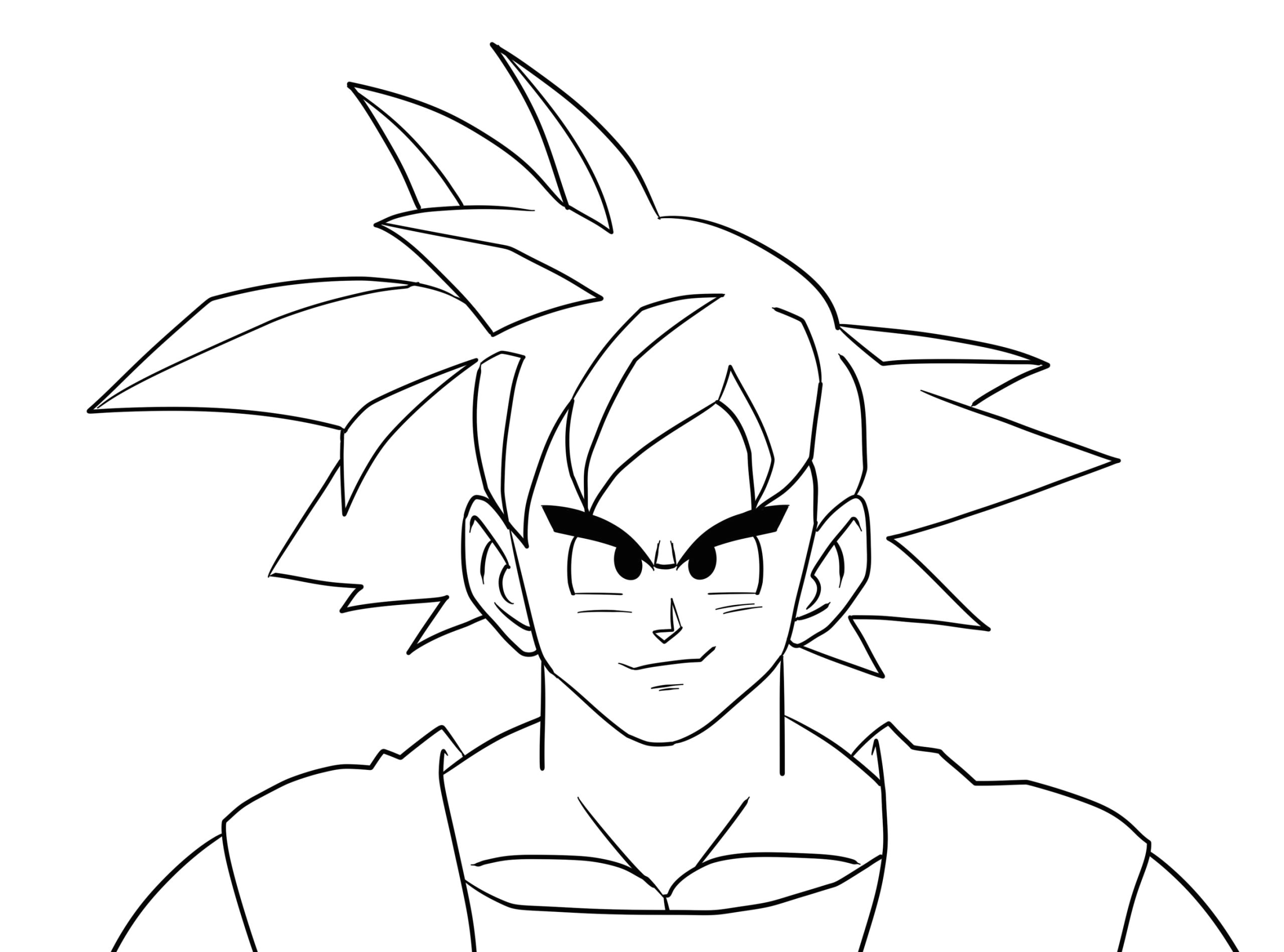 drawing simple ideas how to draw goku 14 steps with wikihow of drawing simple ideas scaled jpg