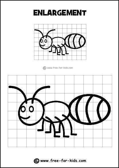 Easy Logo Drawings Enlargement Grid Practice Logo Art Worksheets Drawing
