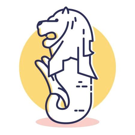 depositphotos 303447228 stock illustration merlion web icon simple illustration jpg