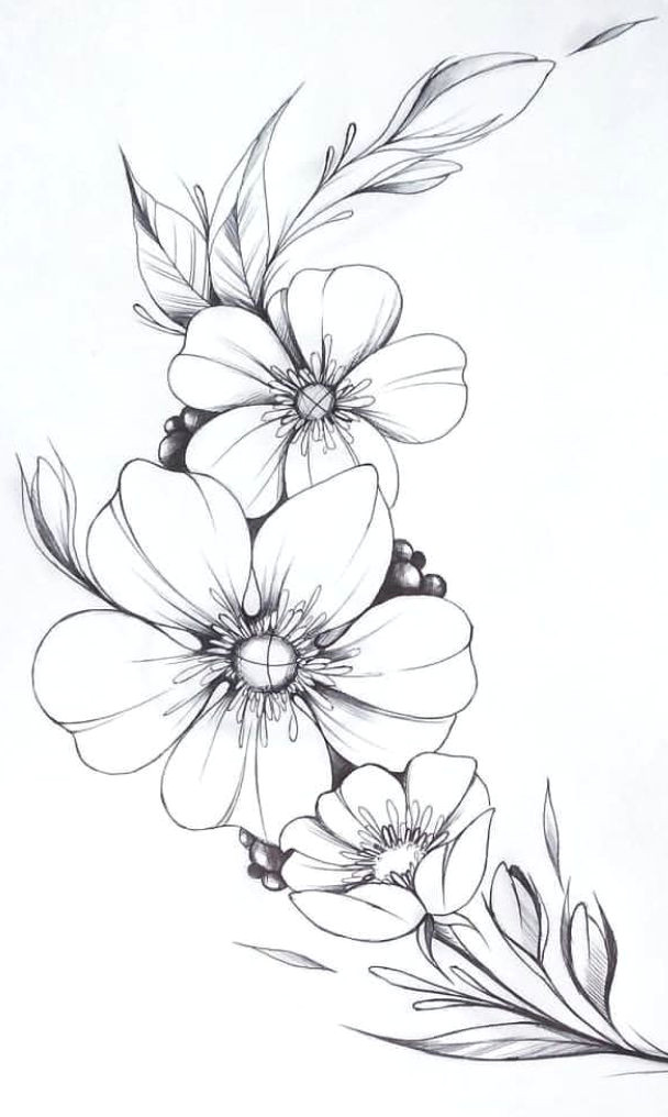Easy Pictures Of Flowers to Draw Floral Lettering Flower Art Drawing Flower Line Drawings
