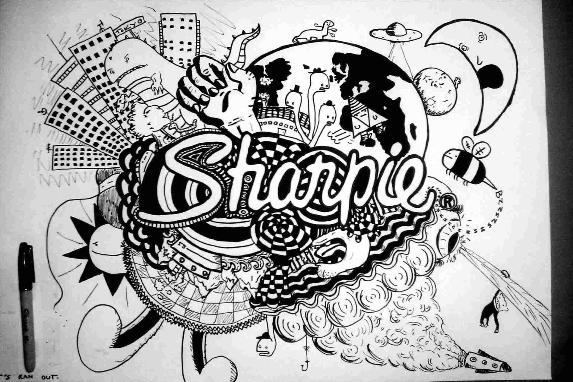 sharpie pictures result for cool things ing pinterest rhpinterestcom flower zentangle sf my marker art and doodles flower how to draw sharpie pictures zentangle sf my jpg