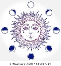 bohemian hand drawn sun moon 260nw 530887114 jpg