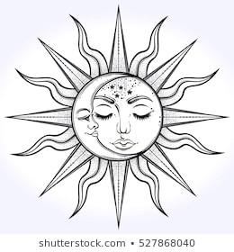 bohemian hand drawn sun moon 260nw 527868040 jpg