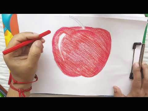 Easy to Draw Apple How to Draw An Apple Kids Drawing Easy Drawing Being