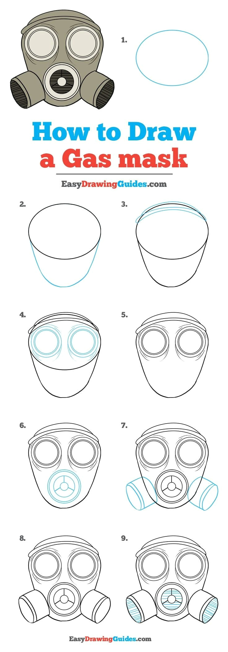 Easy to Draw Gas Mask How to Draw A Gas Mask Draw Zeichnungsanleitung Ideen