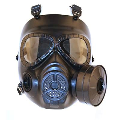 sgoyh tactical airsoft paintbal protection gear dummy anti fog gas face mask with turbo fan schwarz von sgoyh 792471389 jpg