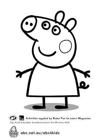 Easy to Draw Peppa Pig Peppa Pig Template for Birthday Cake Peppa Pig Colouring