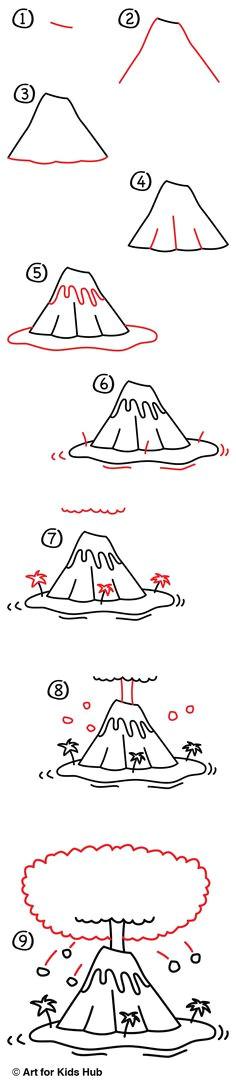 a0f7b5cf0937fb3fd9b89bce2e49b4ed learn how to draw volcanoes jpg