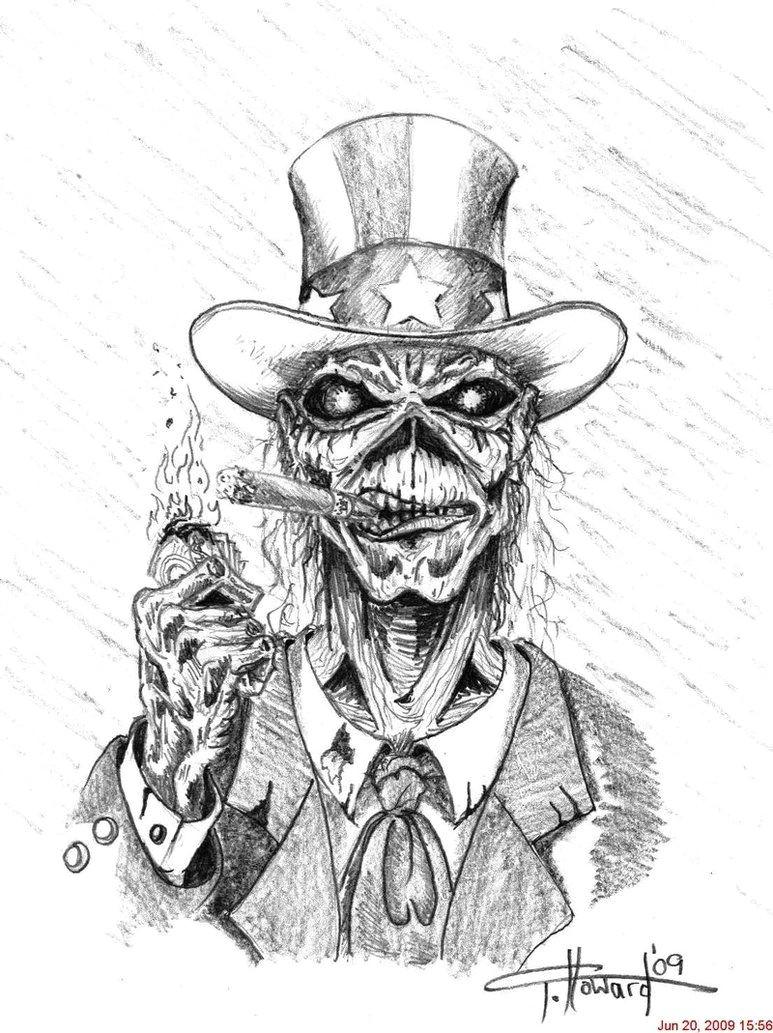 Eddie Iron Maiden Easy Drawing Uncle Eddie by Inkinblood Zeichnungen Kunst Und Gruselig