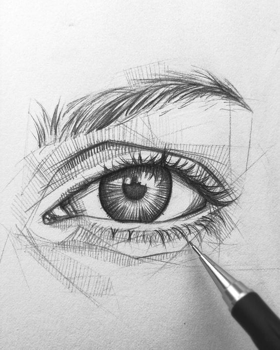 Eye and Eyebrow Drawing Easy 52 Easy Pencil Drawing Eye Ideas Art In 2020 Pencil