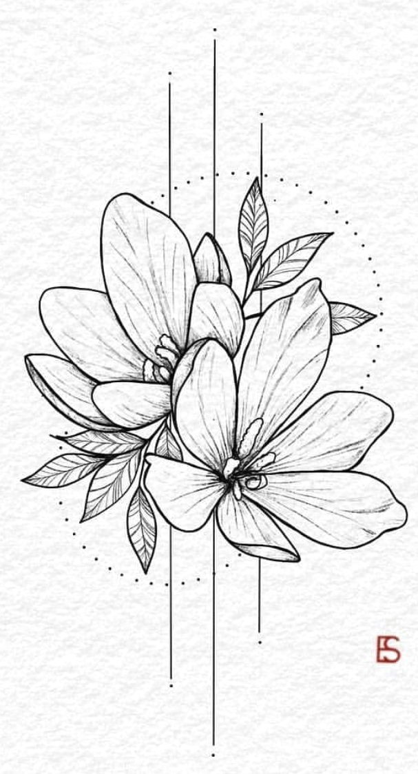 Fern Drawing Easy Pin by Fern On Tattoos Flower Sketches Drawings Body Art