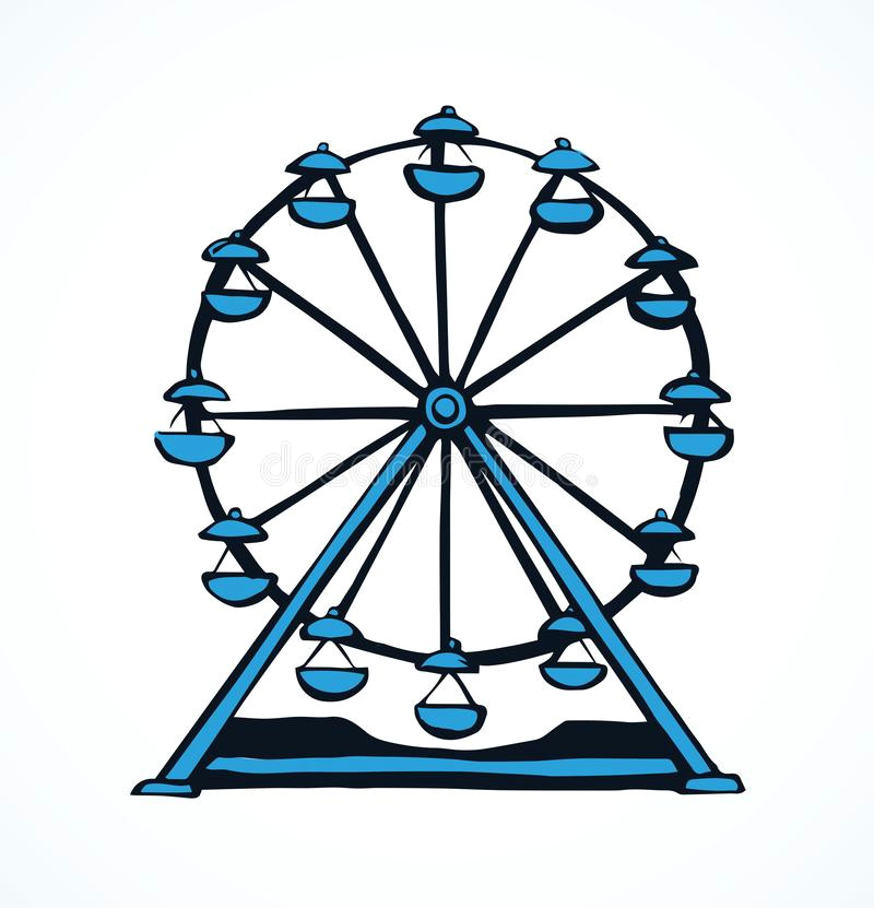 ferris wheel vector drawing large circular line move up funny kid ferriswheel game picture draw white paper space text 148815563 jpg