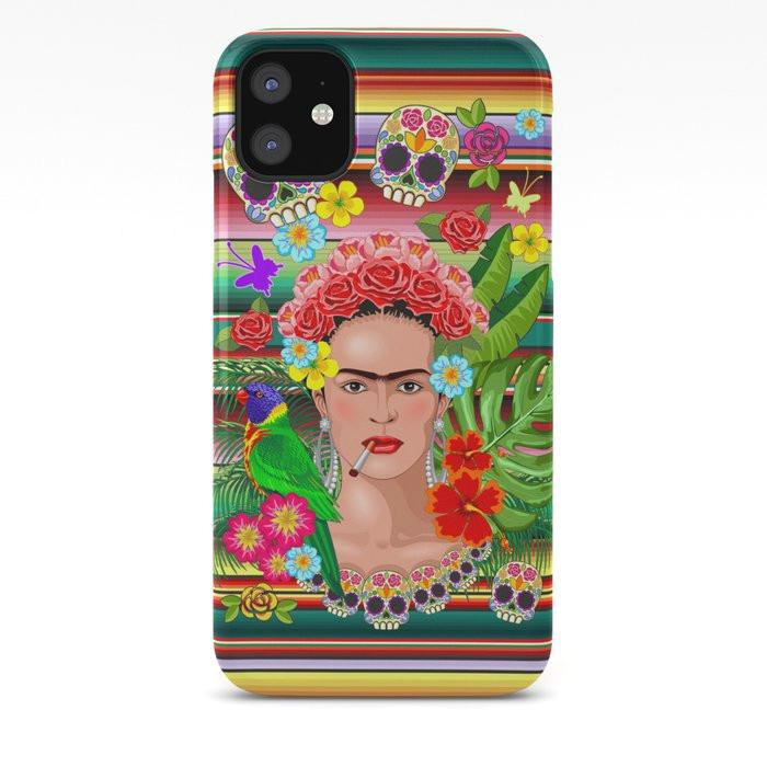 frida kahlo floral exotic portrait cases jpg