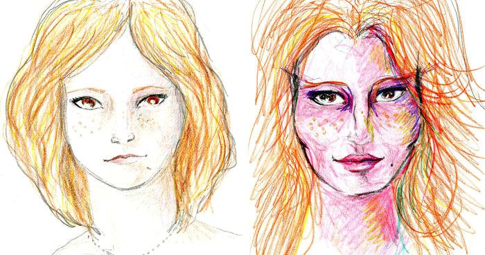 lsd portrait drawings girl fb 700 jpg