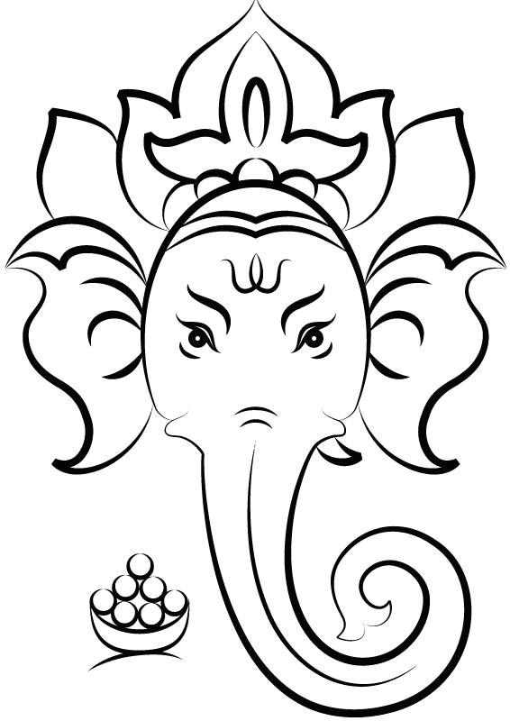 Ganpati Bappa Easy Drawing A A A A A In 2019 Ganesha Drawing Ganesha