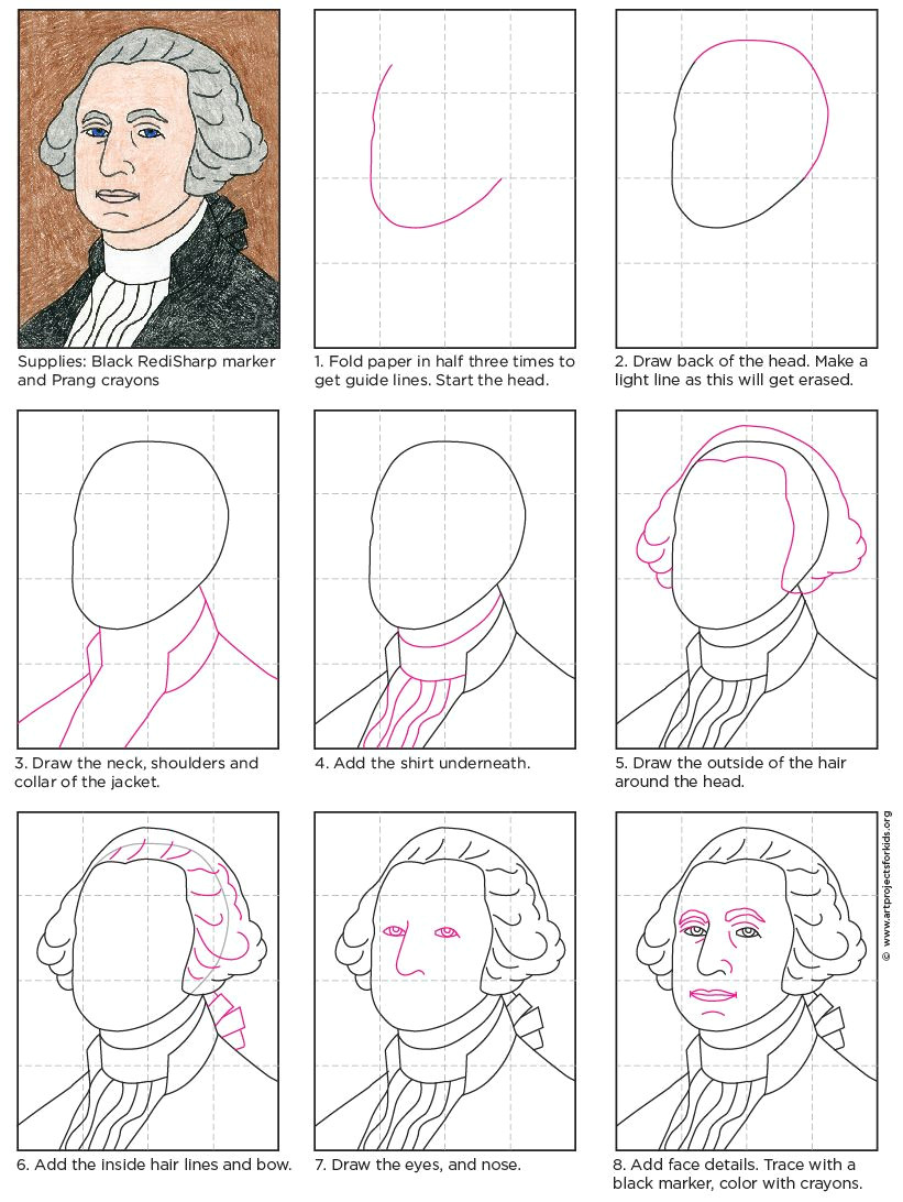 George Washington Drawing Easy How to Draw George Washington Drawing for Kids Washington
