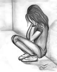 Girl Sad Drawing Pin On Things to Draw