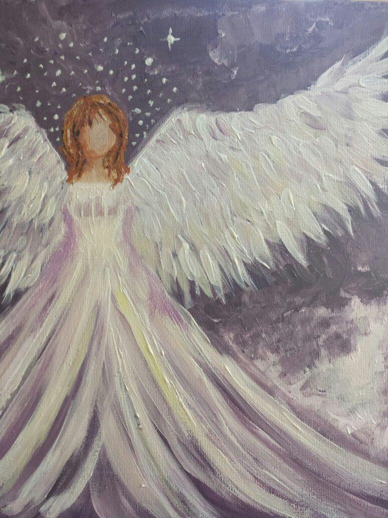 Guardian Angel Drawing Easy Amy Guardian Angel by Berini Silcock Angel Art Angel
