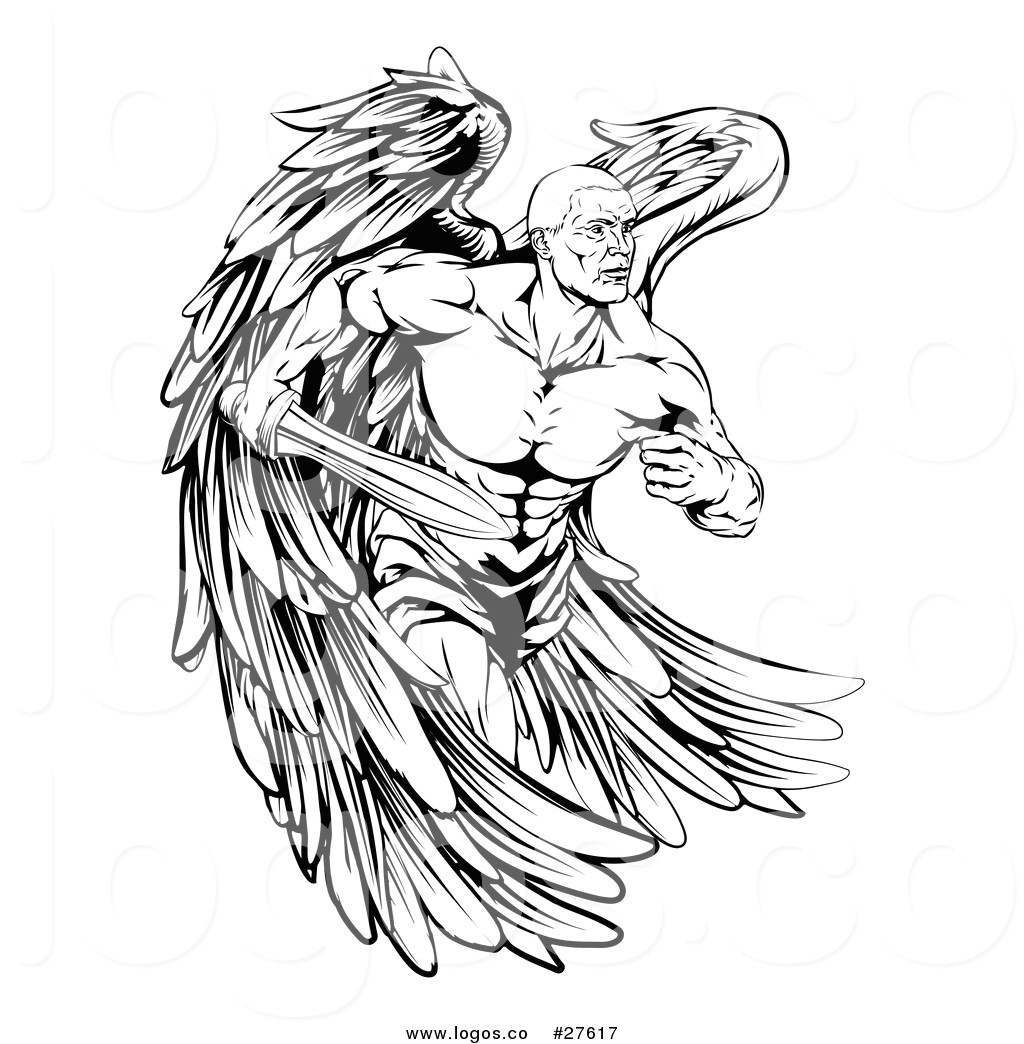 fbafbb5d74598a7539aa0e7f27ae73d5 vector logo of a black and white muscular male guardian angel with 1024 1044 jpeg