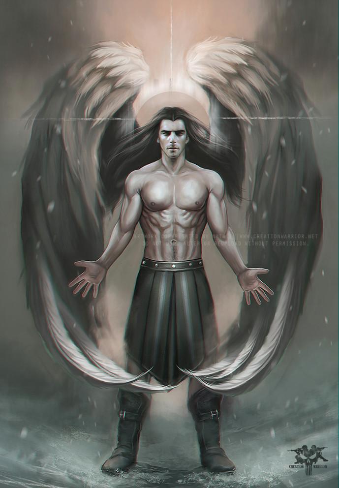male guardian angel drawing 59 jpg
