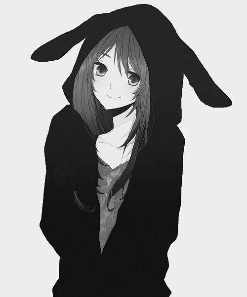 Hoodie Cute Anime Girl Drawing Girl In Bunny Hoodie Anime Kawaii Anime Manga Anime