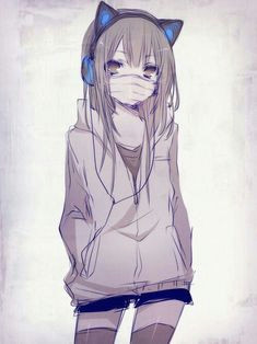 How to Draw A Anime Girl with Hoodie 39 Best Mask Anime Girls Images Anime Anime Art Kawaii Anime