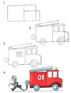 471a5877a4afde4d23d0dd30618fb4f6 fireman birthday draw truck jpg