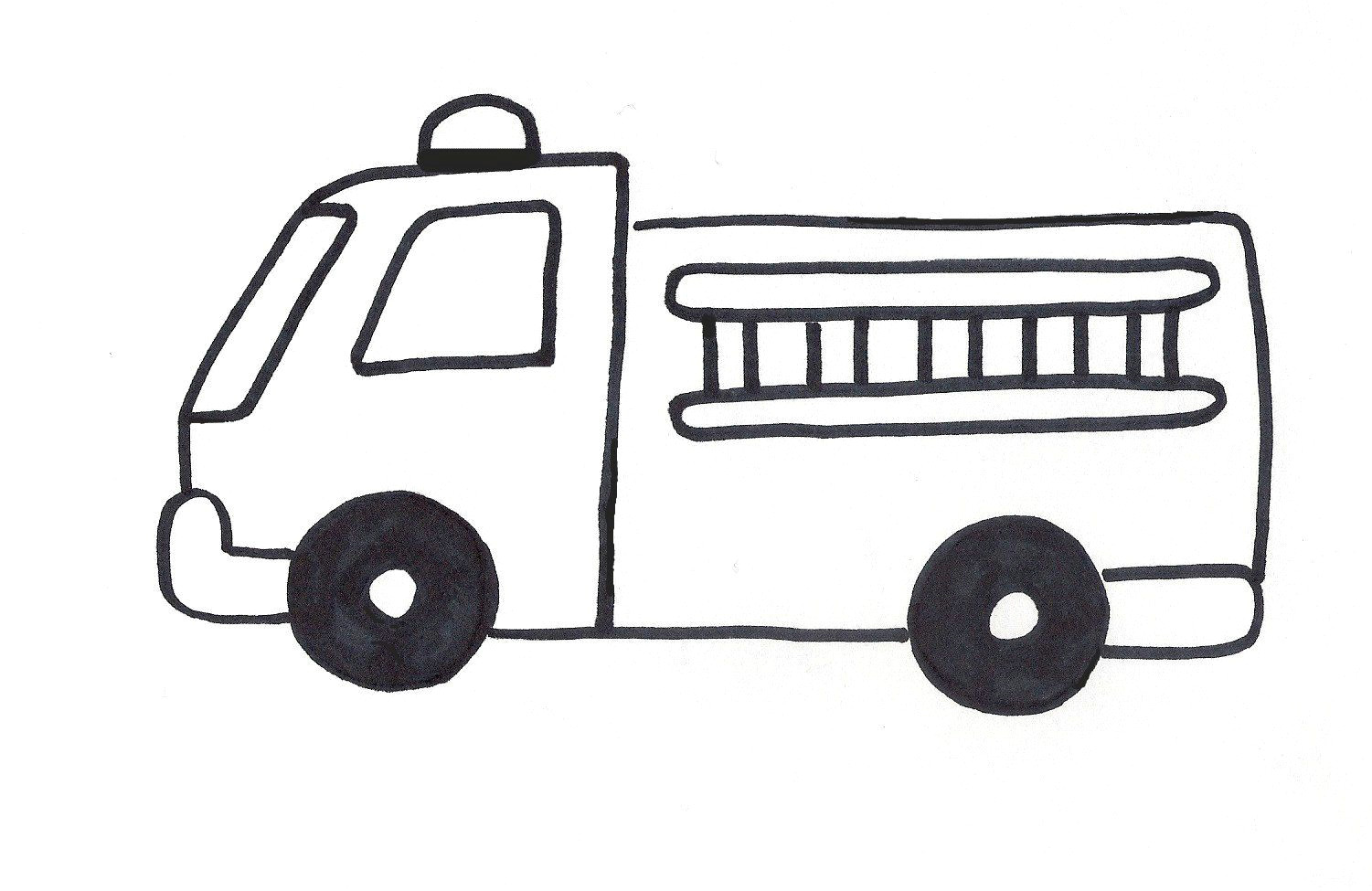 How to Draw A Fire Truck Easy Firetruck Template Fire Truck Craft Truck Coloring Pages
