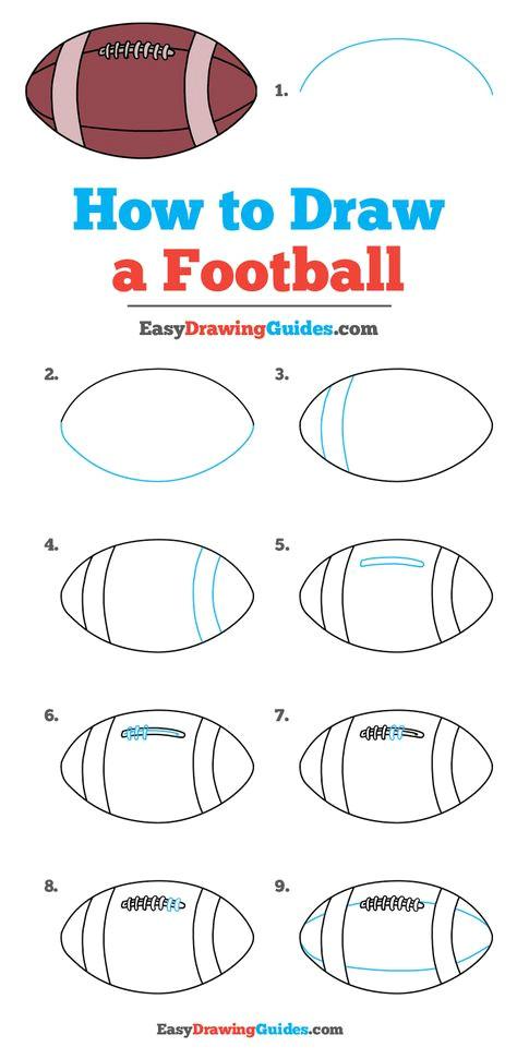 How to Draw A Football Easy How to Draw A Football Dibujo Paso A Paso Dibujos De