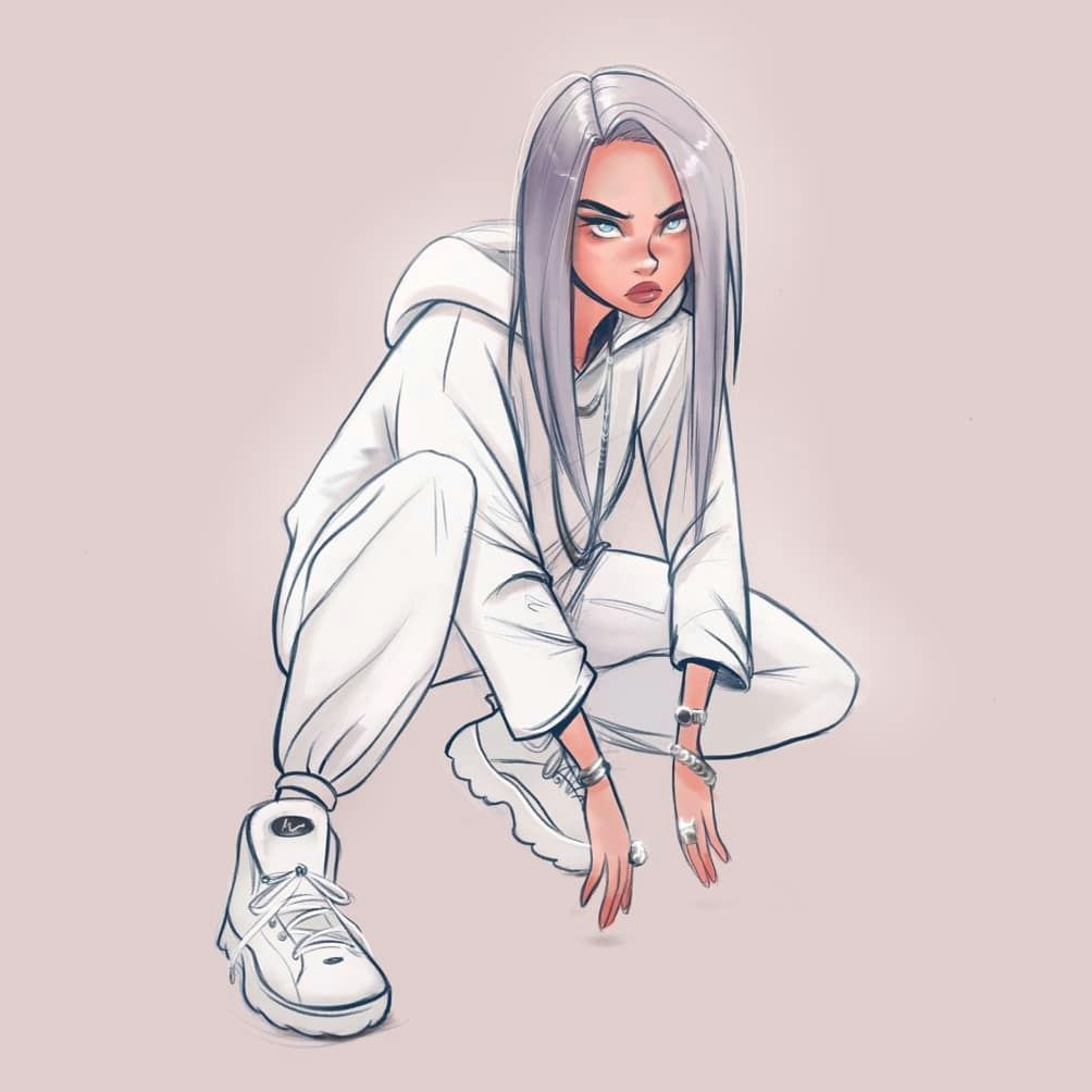 How to Draw A Girl On Procreate Study Drawing Of Yo Girl Billie Eilishd Billieeilish